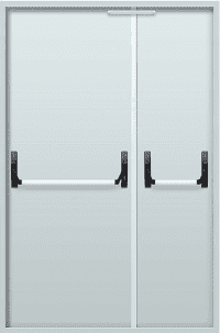 Противопожарные двустворчатые двери EI 30 2050х1200 + замок антипаника