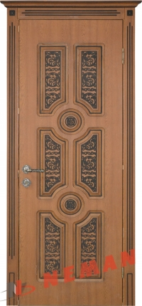 Межкомнатная дверь Антарес ВИП дуб золотой, патина коричневая