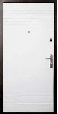 Входная дверь FORT Эконом Дуэт венге/белый квартира