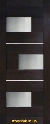 Межкомнатные двери Куб ПВХ (стекло сатин)