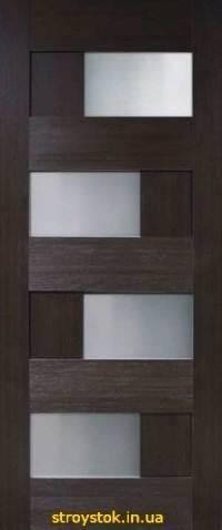 Межкомнатные двери Домино 2 ПВХ стекло сатин