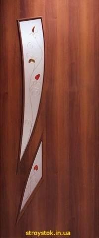 Межкомнатные двери с контурным рисунком Фиеста