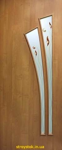 Межкомнатные двери с контурным рисунком Пальма