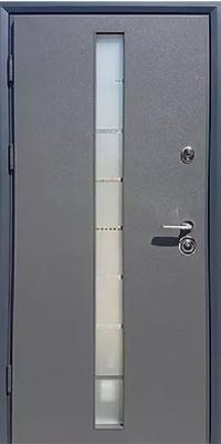 Входная дверь Коттедж Графит+стеклопакет