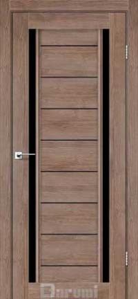 Межкомнатные двери Darumi модель Madrid черное стекло