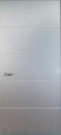 Двери скрытого монтажа окрашенные с молдингом