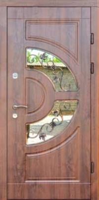 Входная дверь FORT Премиум Греция со стеклопакетом