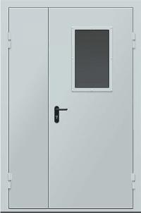 """Противопожарные двери EI 60 серии """"Барьер 3"""" 2050х1200 мм со стеклом"""