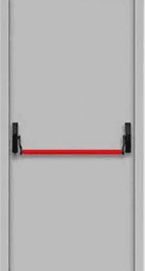 "Противопожарные двери EI 60 серии ""Барьер 1"" 2050х860/960 мм + замок антипаника"