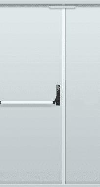 "Противопожарные двери EI 60 серии ""Барьер 1"" 2050х1200 мм + замок антипаника"
