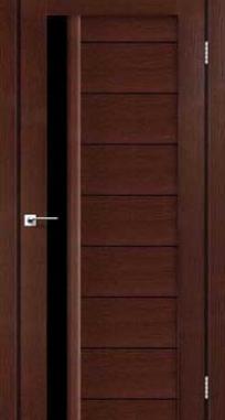 Межкомнатные двери Darumi модель Bordo черное стекло
