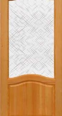 Межкомнатные двери Александрия под стекло