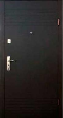 Входная дверь FORT Эконом Дуэт венге/белый