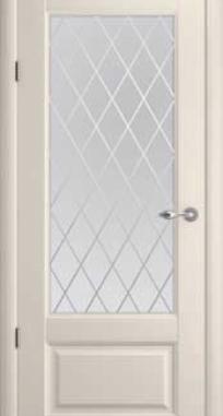 Межкомнатные двери ALBERO Галерея Эрмитаж-1 стекло Ромб
