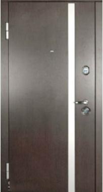 Входная дверь Steelguard АV-1 (Венге темный/ Белый шелк, 117)