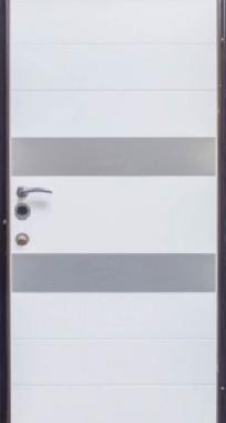 Входная дверь Steelguard Italy (Черный глянец/белый глянец, 121)