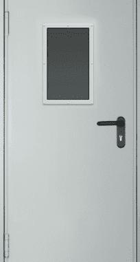 """Противопожарные одинарные двери EI 30. Стеклопакет 600х400 мм. Серии """"Рубеж 3"""""""