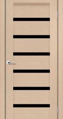 Межкомнатные двери Darumi модель Vela черное стекло