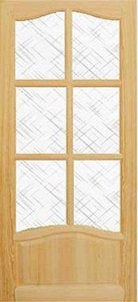 Межкомнатные двери Комфорт под стекло