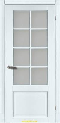 Межкомнатная дверь Тессоро К-1 ПО Белая эмаль